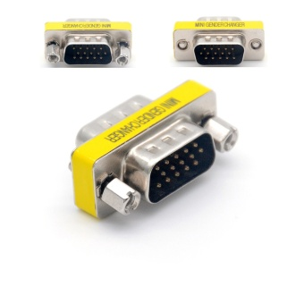 New DB15 15 Pin VGA Male to Male for Joint Serial Port VGA Connector Adapter VGA Gender Changer Wholesale - intl