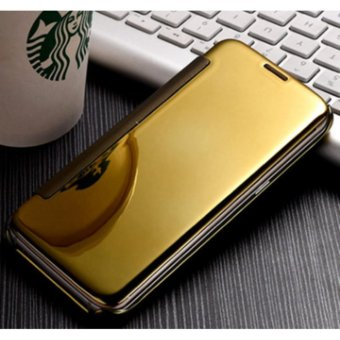 NEW Double View plated mirror holster flip phone case mirror case for SAMSUNG C9 PRO -