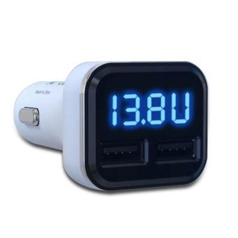 New Dual USB Car Cigarette Charger with LED Display Volt Amp Meter DC 4.8A 5V - intl - 2