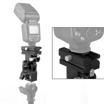 New Flash Hot Shoe Adapter Trigger Umbrella Holder Swivel LightStand Bracket B - 3