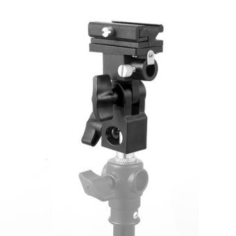 New Flash Hot Shoe Adapter Trigger Umbrella Holder Swivel LightStand Bracket B - 4