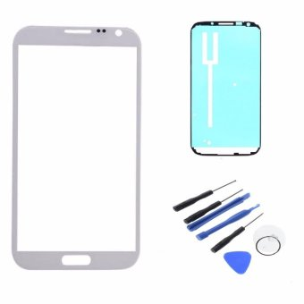 New For Samsung Galaxy Note 2 N7100 Touch Screen Outer Lens Front Glass With Frame Adhesive Tape Repair Tools W0F31 P0.25 - intl