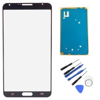 New For Samsung Galaxy Note 3 N9000 N9005 Touch Screen Outer Lens Front Glass With Frame Adhesive Tape Repair Tools W0F30 P0.25 - intl
