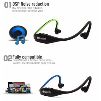 New Generation S9 Sports Wireless Bluetooth Stereo EarphoneHeadphones In-ear Headset Neckband for iPhone 7 Plus/iPhone6SPlus/SE/5S/ for Samsung Android Mobile Phones (Red) with Free LEDWatch - 3