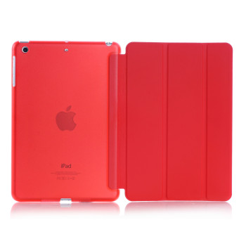 New iPad 2017 iPad 9.7 inch / Ipad Air (ipad 5) case, Welink UltraSlim Smart Cover PU Leather Case for Ipad Air (ipad 5) / New iPad2017 iPad 9.7 inch (Red) - intl