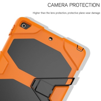 New iPad 9.7 Inch 2017 Case Heavy Duty Shockproof Hybrid ScreenProtector Rugged Rubber Protective Stand Case for Apple iPad 9.72017 5th Generation - intl - 5