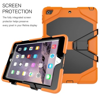 New iPad 9.7 Inch 2017 Case Heavy Duty Shockproof Hybrid ScreenProtector Rugged Rubber Protective Stand Case for Apple iPad 9.72017 5th Generation - intl - 4