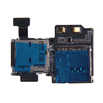 New Micro SD Card Reader SIM Tray Holder Flex Cable for SamsungGalaxy S4