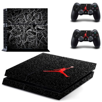 new play basketball decal PS4 Skin Sticker For Sony Playstation 4Console protection film +2Pcs Controllers protective cover - intl