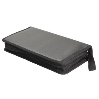 New Portable 80 Disc CD VCD DVD Storage Bag Wallet Holder Case BoxBlack - intl