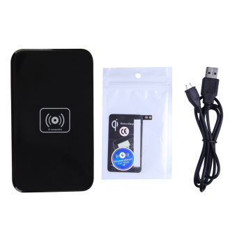 New QI Wireless Black Charging Pad and Receiver for SAMSUNG GALAXY S5