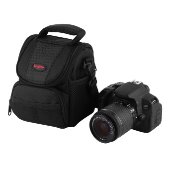 New Style Shockproof DSLR Case Outdoor Travelling Camera Shoulder Bag (Black) - intl
