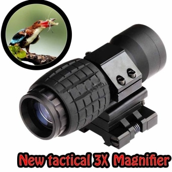 NEW Tactical 3X Magnifier FTS Flip To Side ForEotechAimopintSimilar Scopes - intl
