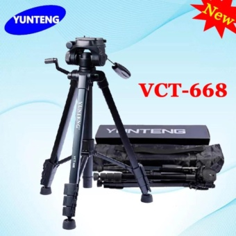 New YUNTENG VCT-668 668 Professional Photography Camera Pro Tripodwith Damping Head Fluid Pan For Canon Nikon Sony DSLR Camera(VCT-668)