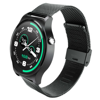Newest Lemfo GW01 Bluetooth Smart Watch IPS Round Screen LifeWaterproof Sports smartWatch For apple huawei Android IOS PhonesBlack - intl