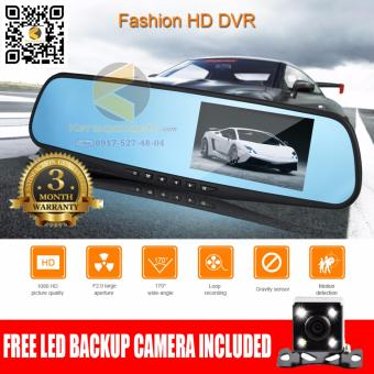 Nia AK47 or Q105B HOT SALE dual lens car camera rearview mirror auto dvrs cars dvr parking video recorder registrator dash cam full hd 1080p night vision