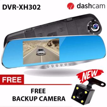 NIA DVR-XH302 4.3 inch LCD 1080p dual lens with LED Car Blackbox DVR two camera full HD dash camera recorder Dashcam DVR-XH302 H42 sensor (UPGRADED BACK CAMERA LED) 302 XH302