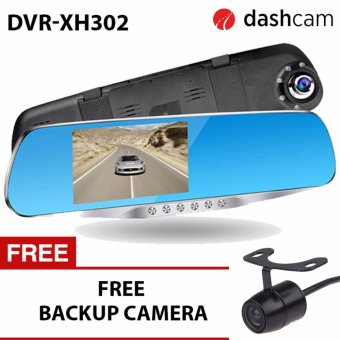 NIA DVR-XH302 4.3 inch LCD 1080p dual lens with LED Car Blackbox DVR two camera full HD dash camera recorder Dashcam DVR-XH302 H42 sensor XH302 302
