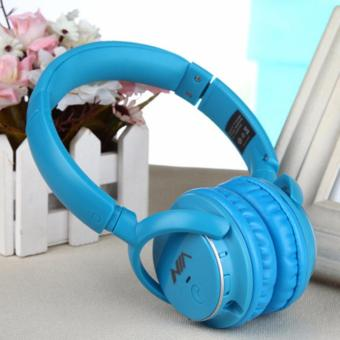 Nia Q1 108dB 4 in 1 Over-The-Ear Bluetooth Wireless Headphones (Blue)