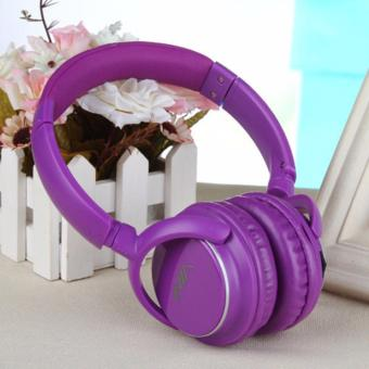 Nia Q1 108dB 4 in 1 Over-The-Ear Bluetooth Wireless Headphones (Violet)