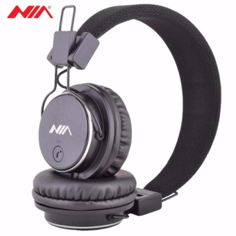 NIA Q8 851s Over-The-Ear Bluetooth Headphones with Call function, FM Radio, AUX/Micro SD Slot (Black)