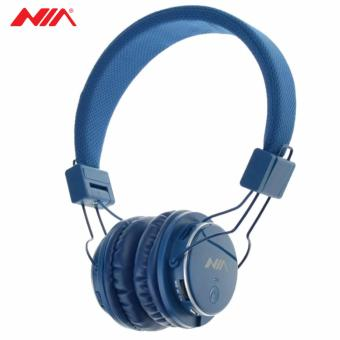 NIA Q8 851s Over-The-Ear Bluetooth Headphones with Call function,FM Radio, AUX/Micro SD Slot (Dark Blue)