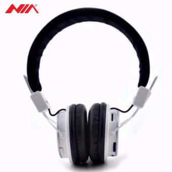 NIA Q8 851s Over-The-Ear Bluetooth Headphones with Call function,FM Radio, AUX/Micro SD Slot (White)