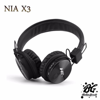 Nia X3 108dB 4 in 1 Bluetooth Wireless Over Ear Headphone (Black)