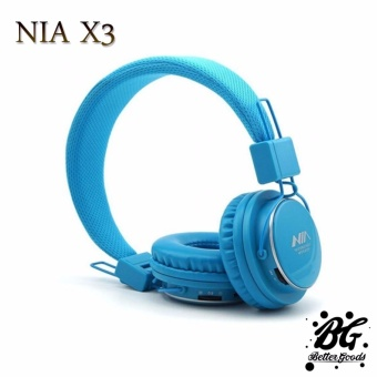 Nia X3 108dB 4 in 1 Bluetooth Wireless Over Ear Headphone (Blue)