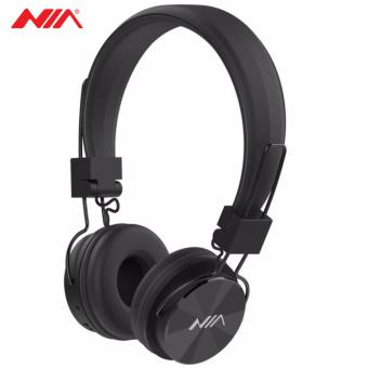 NIA X3 Superb Sound Foldable 108dB 4-in-1 Wireless Bluetooth Headset with FM Radio and TF/AUX Slot (Black)