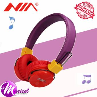 Nia X3 Superb-Sound Heavy-Duty 4-in-1 Wireless Bluetooth Over-the-Ear Stereo Headset with Mic/FM Radio/TF Slot (Tricolor)