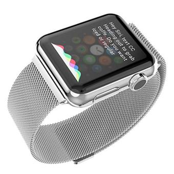 niceEshop Apple Watch Band Magnetic Clasp Mesh Loop MilaneseStainless Steel Replacement Strap For Apple Watch Sport Edition38mm Silver - intl - 3