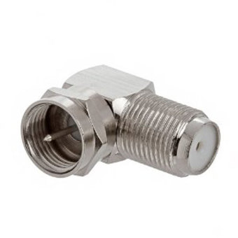 niceEshop Silver F Pin Male Right Angle To F Female Coax/CoaxialAdapter( L Adaptor)