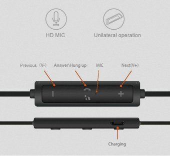 niceEshop Ubit 56S Sports In-Ear Wireless Bluetooth Earphone StereoEarbuds Headset Bass Earphones With Mic For IPhone 6 Samsung Phone- intl - 3