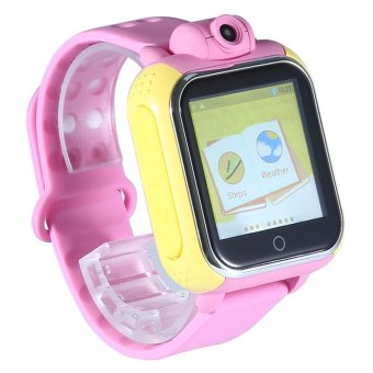 niceEshop Updated GPS Tracker Kids Cell Phone Watch SmartwatchWrist Sim Watch Phone Anti-lost SOS WCDMA Children Bracelet ParentControl For Apple IPhone IOS Android Smartphone MT6572A Dual Core -intl