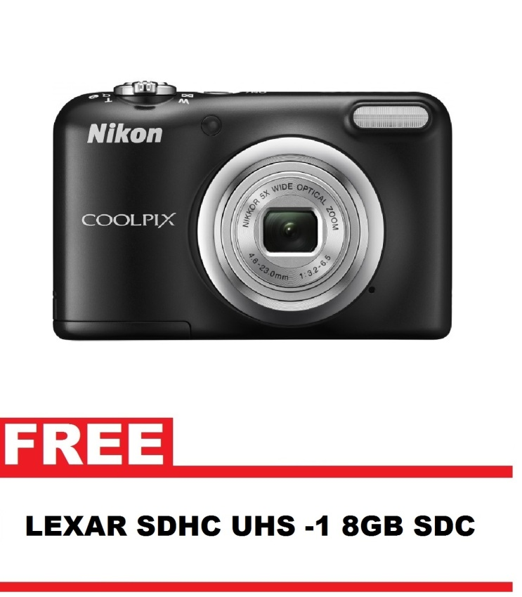 Nikon Coolpix A10 16.1MP 5x Optical Zoom (Black) with FREE 8GB SDCard