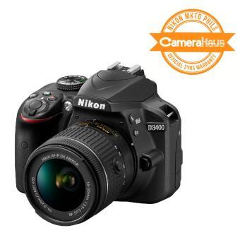 Nikon D3400 24.2 MP AF-P 18-55mm f/3.5-5.6mm VR Len's Kit (Black)
