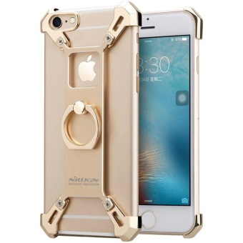 Nillkin Barde Metal Handy Phone Stand Cover Case with Ring ShapeHolder for Apple iPhone 6 / 6s 4.7 inch with retail package (Gold)- intl