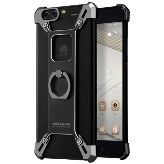 Nillkin Barde Metal Handy Phone Stand Cover Case with Ring ShapeHolder for Huawei P10 Plus with retail package (Black) - intl