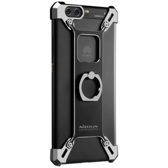 Nillkin Barde Metal Handy Phone Stand Cover Case with Ring ShapeHolder for Huawei P10 Plus with retail package (Black) - intl - 3