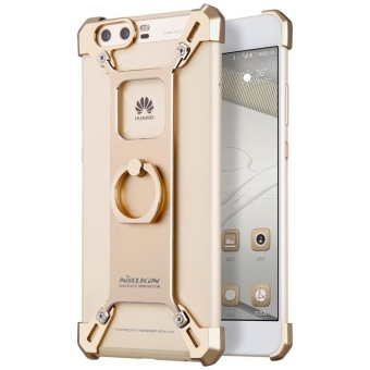 Nillkin Barde Metal Handy Phone Stand Cover Case with Ring ShapeHolder for Huawei P10 Plus with retail package (Gold) - intl Price Philippines