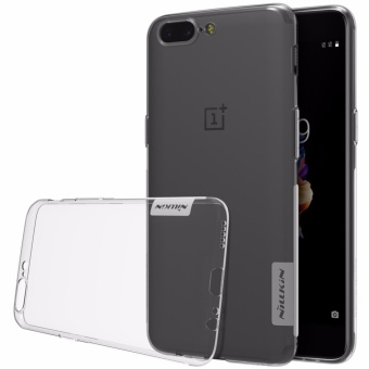 Nillkin for Oneplus 5 Case Cover Transparent Soft TPU Silicone Cover for Oneplus Five Case Dust Plug Protective Shield