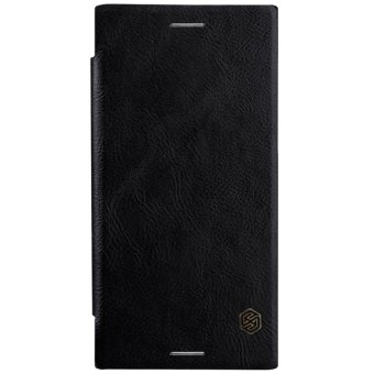 Nillkin Qin Customized Ultra Thin Inside Card Slot Flip Up LeatherCase Protective Shell Cover for Sony Xperia XZ Premium (Black) -intl - 2