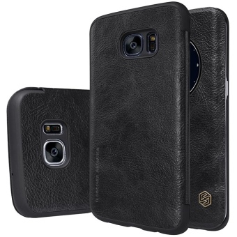 Nillkin QIN Series leather Case 360 degree protection case forSamsung Galaxy S7 edge with retail package (Black) - intl