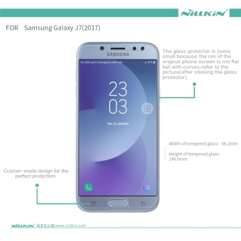 Nillkin screen protector for Samsung Galaxy J7 Pro 2017 tempered glass film for Samsung Galaxy J7 2017 J730 0.2 mm Anti-Burst - intl - 2