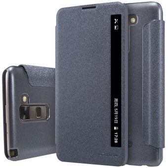 NILLKIN sparkle PU leather flip cover for LG Stylus 2 K520 withretail package (Black) - intl Price Philippines