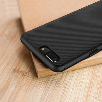 Nillkin Synthetic carbon fiber case for OnePlus 5 (5.5 inch) with retail package (Black) - intl