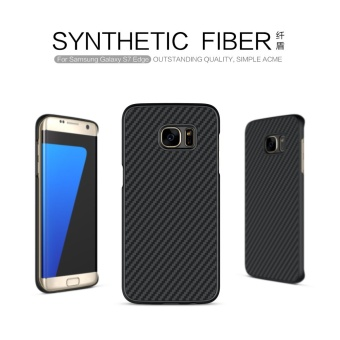 Nillkin Synthetic fiber Back Cover Case For Samsung Galaxy S7 edgeMilitary quality With Retail package (Black) - intl