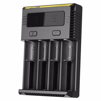 NiteCore i4 V2014 Universal Intelligent Charger for Four Batteries Compatible With IMR/Li-ion (Black)