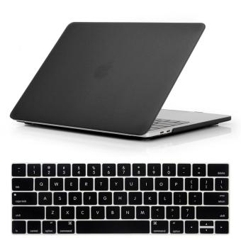 NORTHJO 2 in 1 Rubberized Protective Matte Hard Shell Case andKeyboard Cover for Apple Macbook Pro 15 Inch with Touch Bar andTouch ID - Model: A1707 (Black) - intl